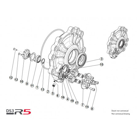 Equipped rear differential...