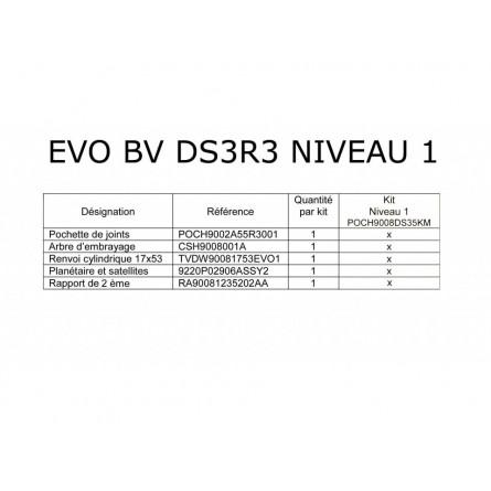 Pochette Evo Level 1 ou 2
