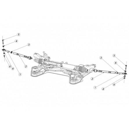 E44 Steering Rod
