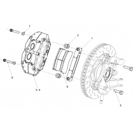 F21 Front Brake Caliper